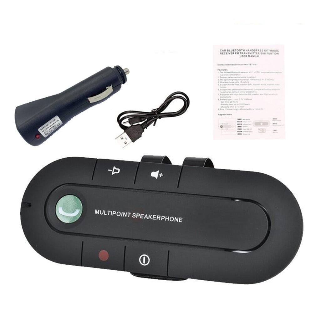 Беспроводной автомобильный комплект громкой связи динамик телефон козырек зажим для IPhone Android Прочный встроенный Чипсет CSR динамик