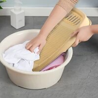 1pcs portable plastic washboard laundry thicken washing laundry board clothes cleaning tools antislip laundry accessories