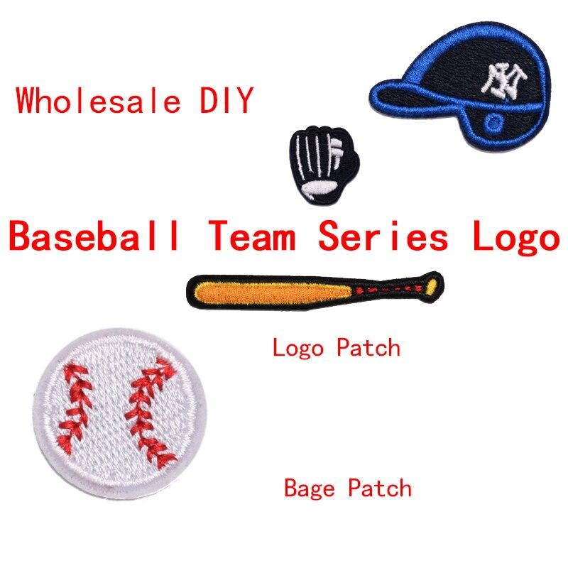 Оптовая продажа, DIY наклейки с логотипом бейсбольной команды, вышитые патчи для железной одежды, курток, пришивания, проглаживания футболок,...