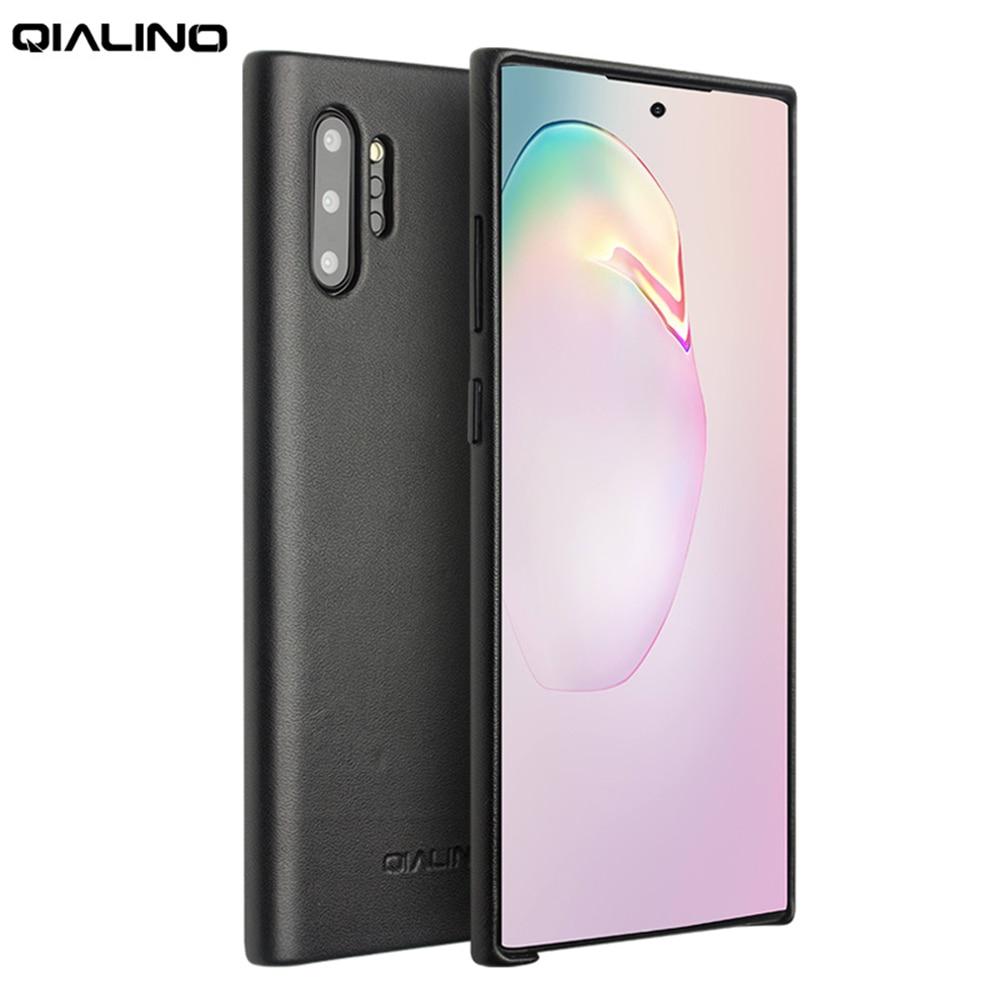 QIALINO Moda Estojo De Couro Genuíno para Samsung Galaxy Note 10 10 Ultra Fino Handmade Tampa Do Telefone para Samsung Galaxy Note além de