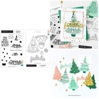 christmas tree clear stamps and metal cutting dies template for diy dies scrapbook embossing decoration card album craft dies