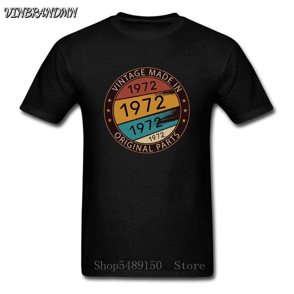Vintage 1972 Todas Las Piezas Originales De la Camiseta Para los hombres es Novedad De Manga Corta De 100% Camiseta Divertidas De Cuello Redond camisetas
