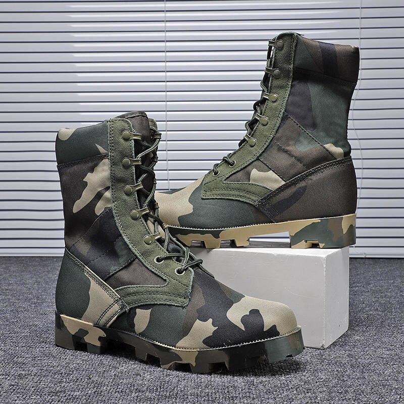 Мужские армейские ботинки, Тактические Водонепроницаемые ботинки для пустыни, камуфляжная обувь для скалолазания, рабочие боты