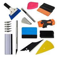 12pcs/set Car Wrapping Tools Kit Vinyl Squeegee Felt Scraper Pro Cutter Razor Window Tint Car Sticker Film Scraper Kit