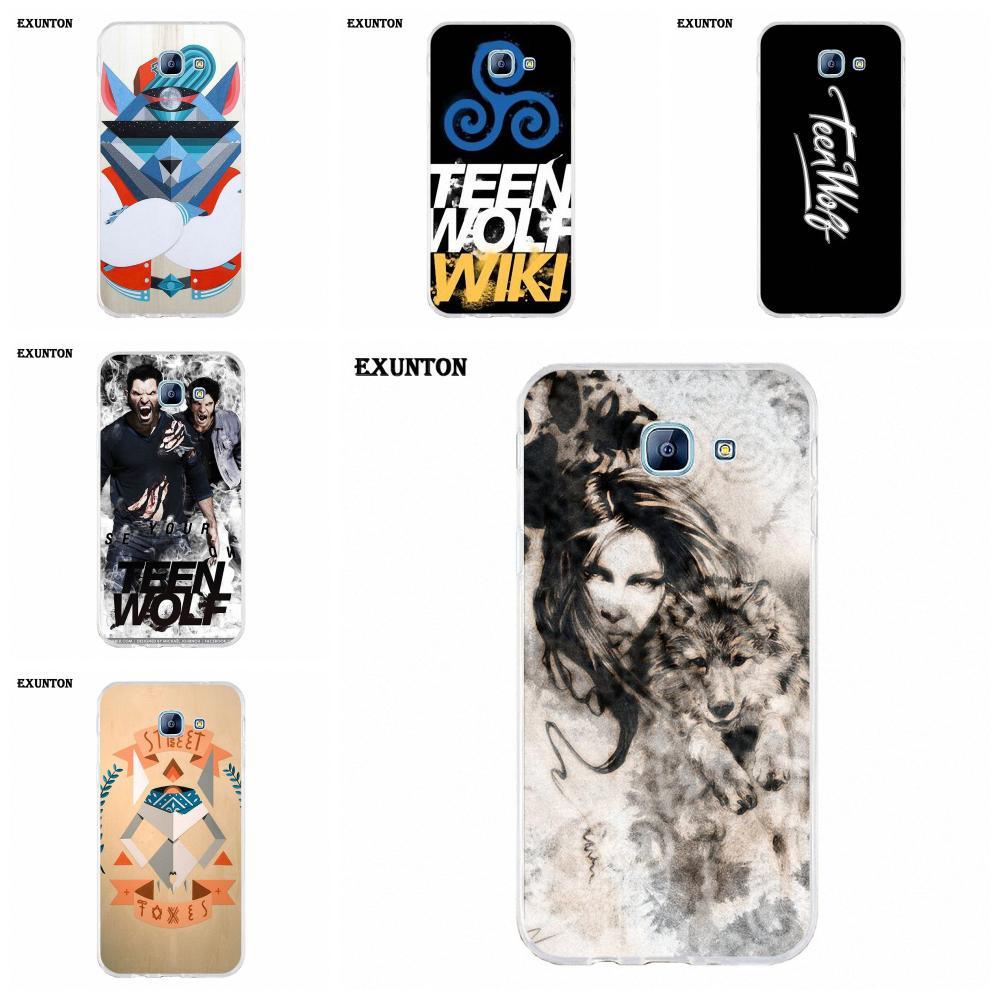 Suave caso de la cubierta del teléfono celular Pop Teen Wolf logotipo para Galaxy A3 A5 A7 A8 A9 A9S On5 On7 Plus Pro estrella 2015, 2016, 2017, 2018