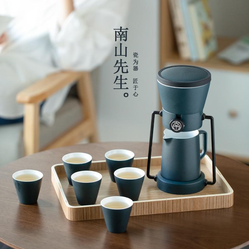 طقم شاي مفعم بالحيوية سيراميك بسيط عصري طقم شاي عرض جمالي صيني أسود تيترا بورسيليانا طقم شاي BG50TS