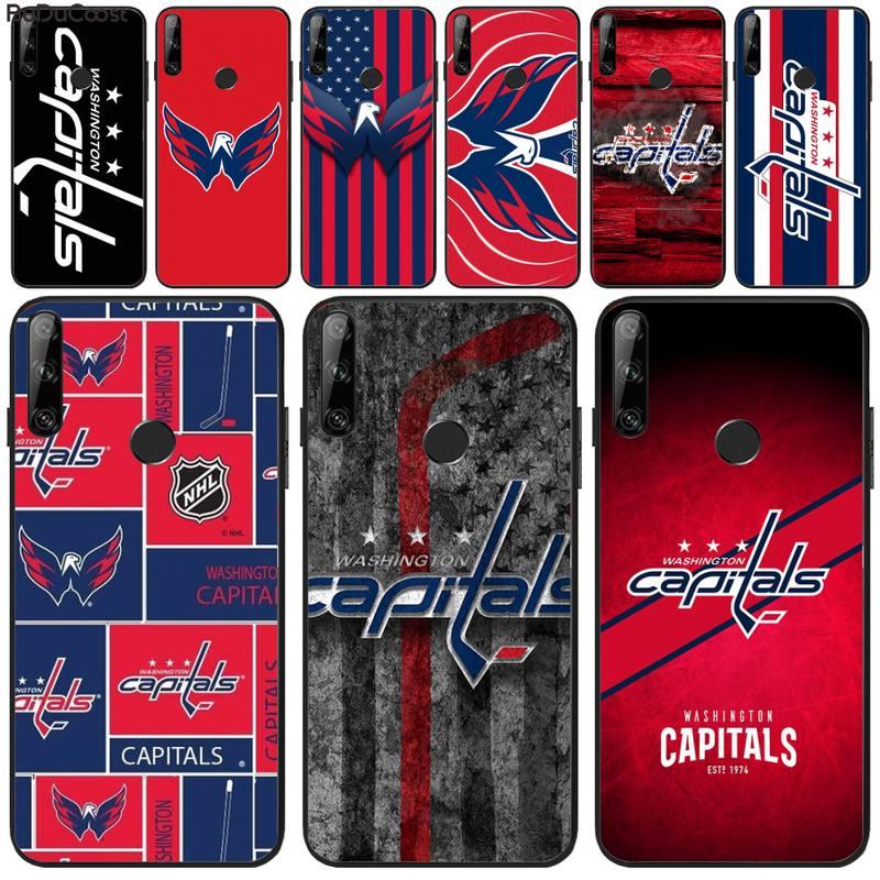 Riccu Washington hockey team badge DIY Phone Case For Huawei Y5 Y6 Y7 Y9 Prime 2019 Enjoy 7 8 9 10 Plus