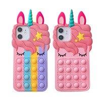 Мягкий силиконовый чехол с 3D рисунком единорога розового цвета для iphone X 8 7 6 6s plus 5S SE XS XR 11 Pro Max Cute Horse, резиновый чехол с кроликом