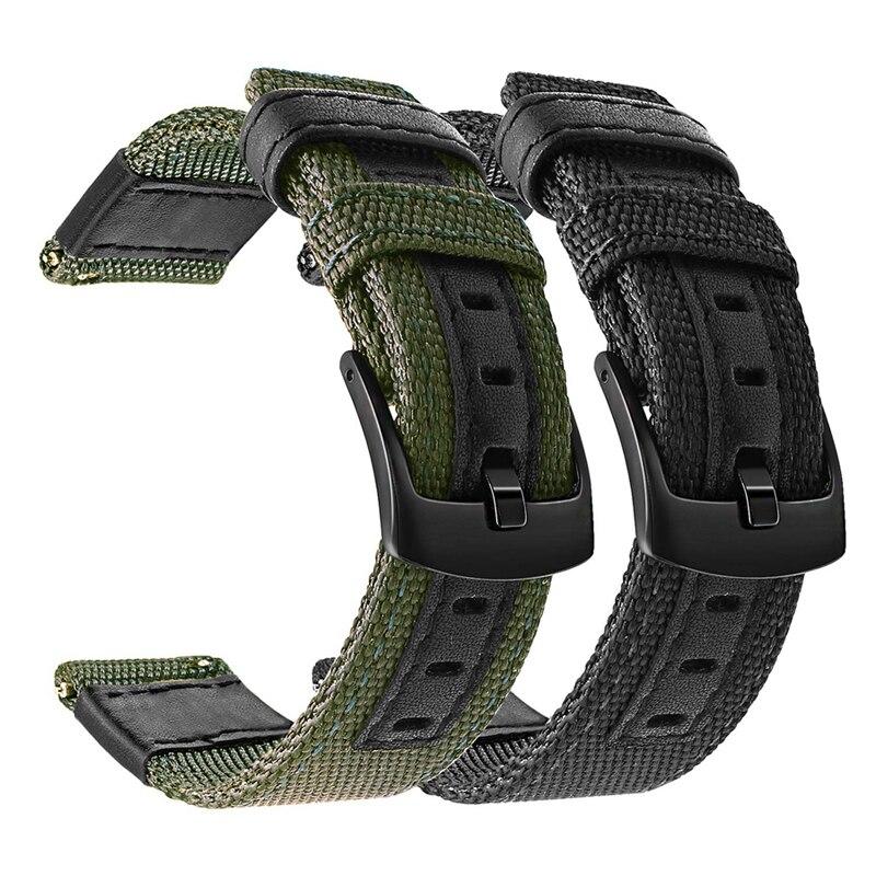 Pulseira de nylon para garmin vivoactive 3, para garmin vivoactive3/4/vivomove hr/forerunner 645/venu pulseira de relógio, 245 245m