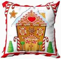 pillow cover zippered covers pillowcases throw pillow covers cute gingerbread house with trees and candy cane frame for home