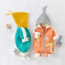 2021 Autumn Winter coat Jumpsuit Baby clothing Newborn Snowsuit Boy Warm Romper Down Cotton Jackets