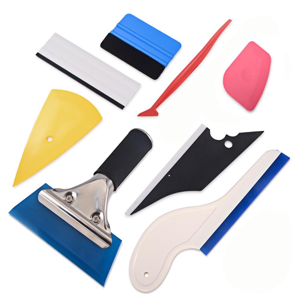 Juego de rasqueta de revestimiento para coche de vinilo FOSHIO, pegatina de lámina de fibra de carbono, herramienta de envoltura automática, herramienta de tinte de Ventanilla, herramienta de estilismo para coche