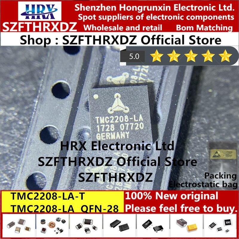 100% nova original TMC2208-LA-T QFN-28 TMC2208-LA QFN28 TMC2208 IC DRV BIPOLAR 5.5-36V 28QFN MTR (5PCS-10PCS-20PCS)