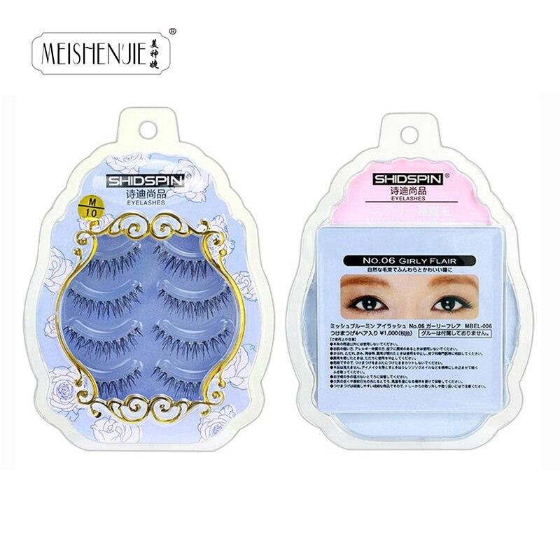4 pares de pestañas postizas de pestañas suaves maquillaje de pestañas falsas pestañas delgadas envío gratis extensión M-10 proveedor