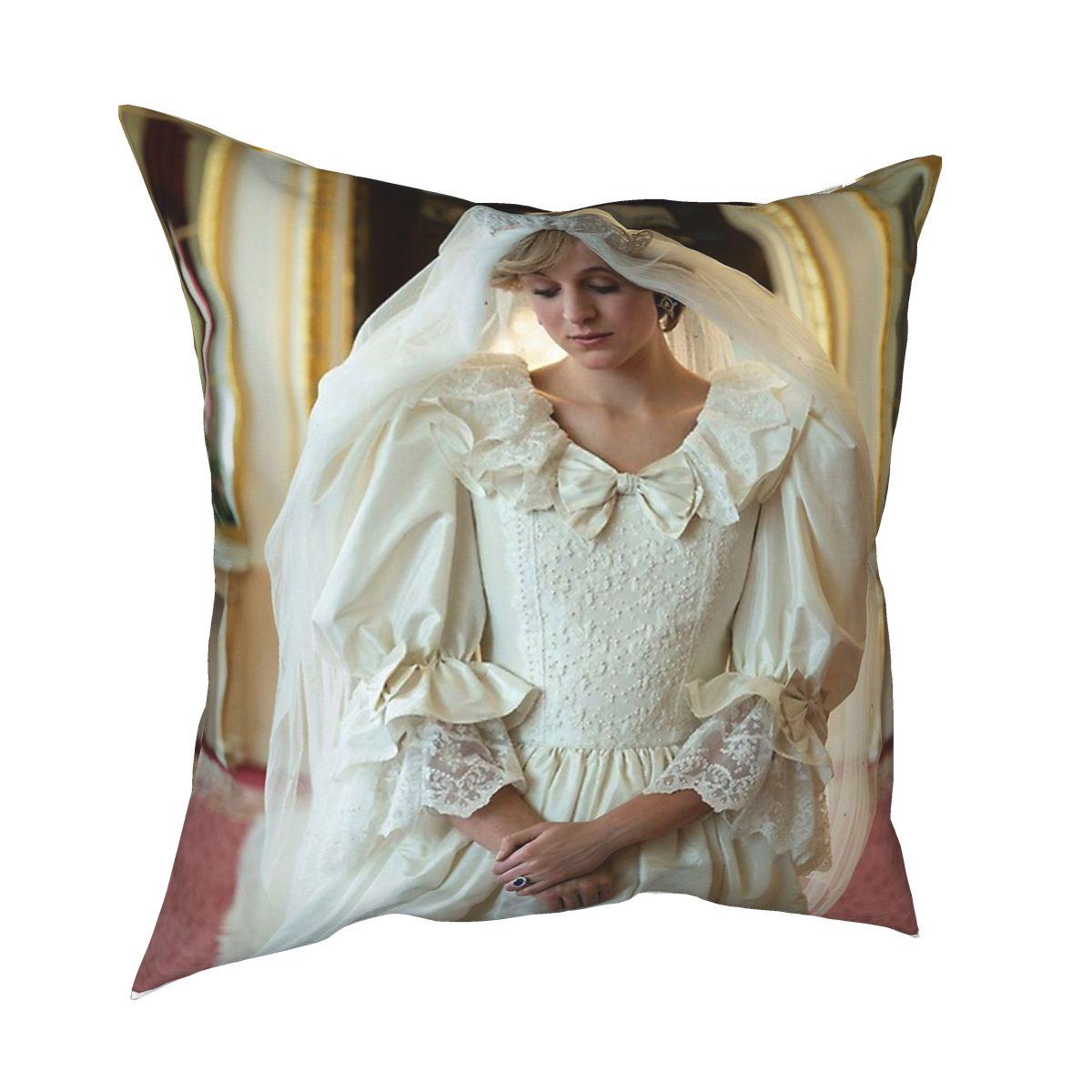 Emma Corrin As Princess Diana Spencer Cushions for Sofa Vintage Cushion Covers Decorative Throw Pillows Cover for sofa home