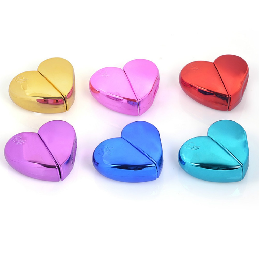 Garrafa recarregável vazia de vidro para o recipiente cosmético líquido da essência do perfume 1 pçs 25ml em forma de coração do perfume garrafa de perfume 6 cores