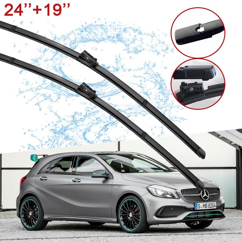 Car Wiper Blades for Mercedes Benz A-Class W176 2016~2018 Windscreen Window Wipers A-Klasse A160 A180 A200 A45 2017 Car Goods