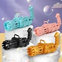childrens automatic gatling bubble machine 10 hole automatic bubble gun childrens toy 4 colors 2021 new