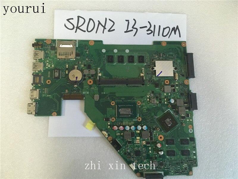Yourui ل ASUS X550CC X550VC اللوحة الأم المحمول REV2.0 مع وحدة المعالجة المركزية i3-3110m مع 4 جيجابايت RAM DDR3 اختبار ok