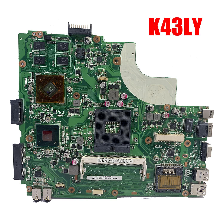 K43LY اللوحة الرئيسية ل ASUS K84HR K43LY اللوحة مع I3-2350M REV 5.0