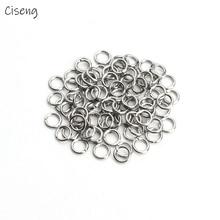 Ciseng 200 Pcs Edelstahl Geöffnete Sprung-Ring 0,5 X3mm Dia Runde Splitter Farbe Split Ringe Für Diy Schmuck Machen erkenntnisse