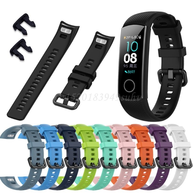 Anti-scratch Soft Silicone Watch Band Sports Wrist Strap Replacement for Huawei Honor 5/4 Sports Bra