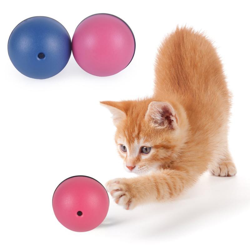 Nuevo juguetes con bolas que ruedan para perro gato interactivo pelota mágica de juguete con mantener su mascota ocupado construido en centrífuga de dispositivo