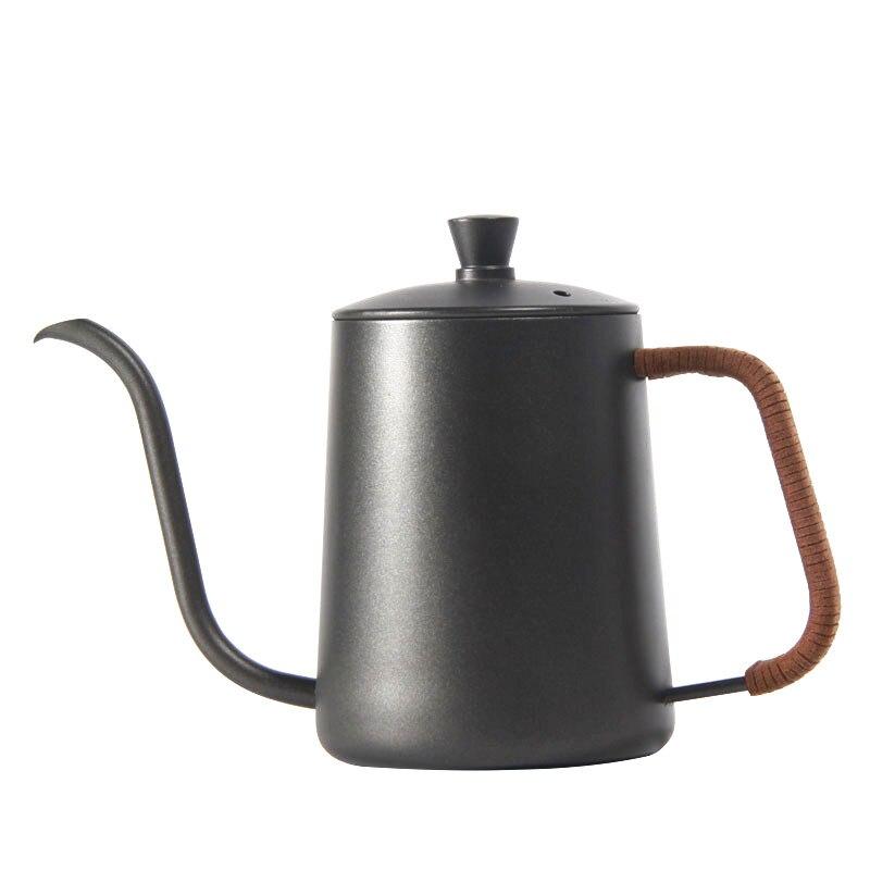 غلاية بالتنقيط 350 مللي 600 مللي مطلي بالفولاذ المقاوم للصدأ, إبريق شاي قهوة طلاء غير لاصق إبريق عنق الإوزة غلاية بالتنقيط رقبة البجعة فم صغير