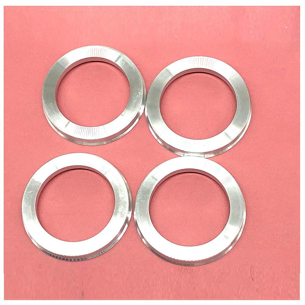 4 pçs/set roda de carro de alumínio furo centro colar cubo anel centrado roda espaçador 66.6-57.1/73.1-54.1/73.1-56.1/73.1-60.1/73.1-64.1