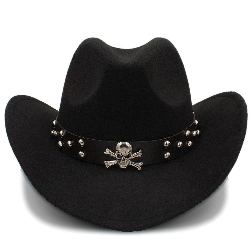 2Big Größe Frauen Männer Wolle Hohl Western Cowboy Hut Gentleman Jazz Heren Hoed Sombrero Hombre Montana Kappe