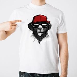 2020  Summer New Fashion  Bear Printed T Shirts Men Short Sleeve T-Shirt Tee Shirts Oversize Streetwear For Men oversized shirt