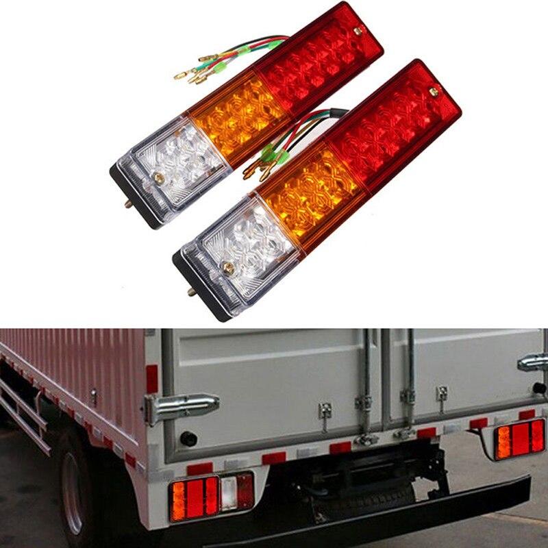 Купить с кэшбэком Waterproof 20 LED  12V Tail Light Car Truck Trailer Stop Rear Reverse Turn Indicator Lamp Light