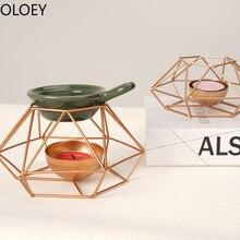 Bougeoirs en or de luxe rétro géométrique chandelier jardin décorations de mariage créatif moderne Simple bougeoir lumière de thé