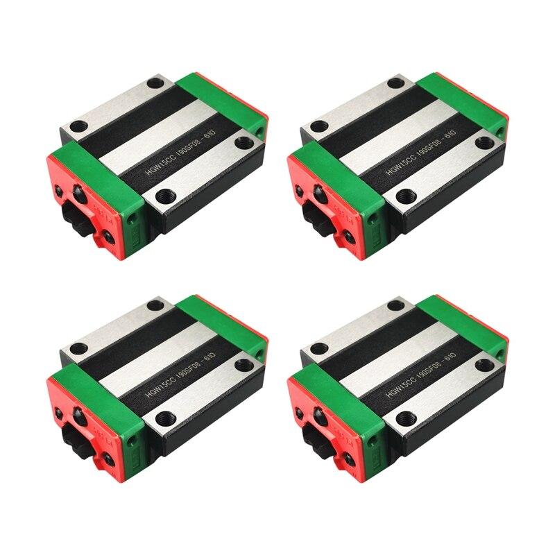 4 قطعة/الوحدة للتبادل الخطي السكك الحديدية المحامل الخطية HGW15CC ، HGR دليل خطي نك Diy بها بنفسك أجزاء ل دليل خطي