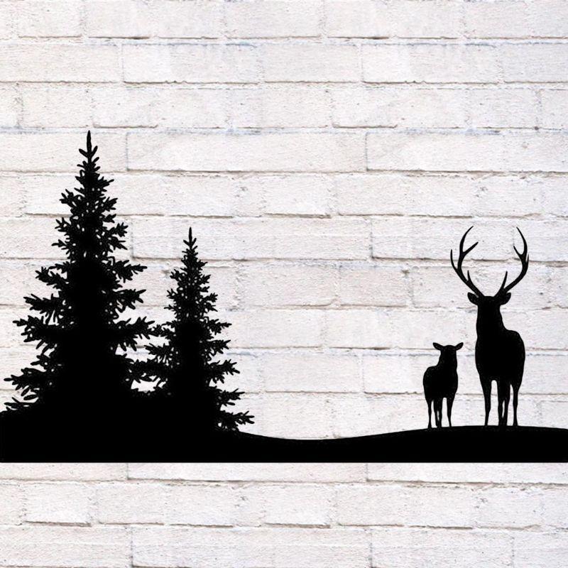 Elk ciervo bosque de morir de acero al carbono en relieve plantilla molde Arte de papel artesanal marcapáginas para álbum de recortes Tarjeta de decoración