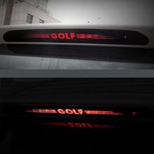 Autocollants en Fiber de carbone lampe de frein   Autocollants montage élevé, phare de frein style de voiture pour VW GOLF 6 7 MK6 MK7 POLO Tiguan R