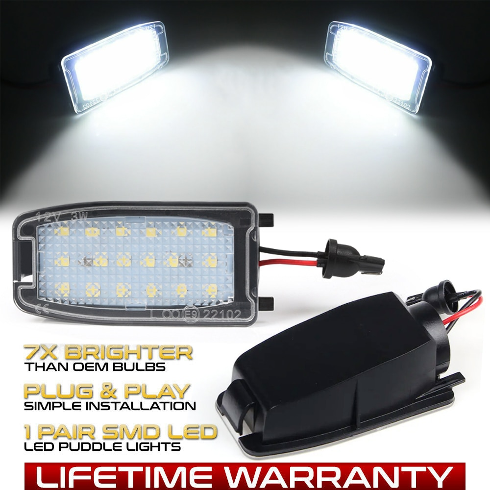 LED Side Under Mirror Lamps Puddle Light For Land Rover L322 LR2 LR3 LR4 Range Rover Sport Freelander 2 Discovery 3 Discovery 4 car roof light a c volume knobs rear air outlet ring trim for land rover discovery 4 range rover sport freelander 2 accessories