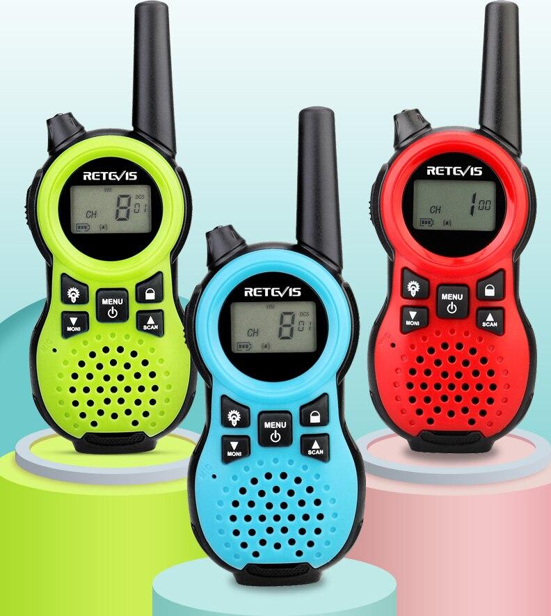 Retevis RT638 RT38 Walkie Talkie Children 2pcs USB Charging Children's radio Flashlight Toy For 3-14 Years Old Boys And Girls