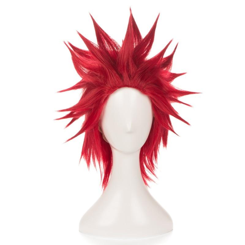 My Boku no Hero Academia Eijirou Kirishima Eijiro Wigs Short Red Heat Resistant Synthetic Hair Cosplay Costume Wig