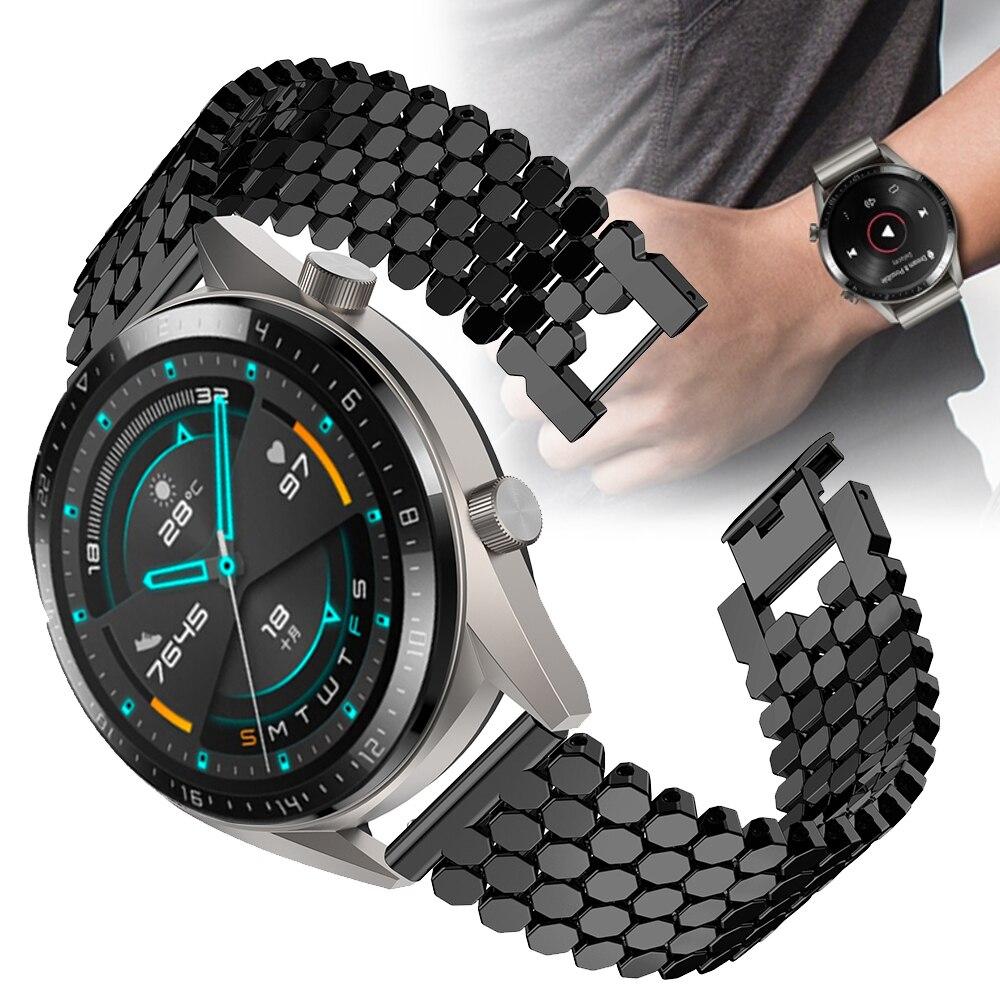Für HUAWEI UHR GT2 GT 46MM 42MM Edelstahl Ersatz Uhr Band Armband Armband Aolly 22mm Armband ehre Uhr Magie