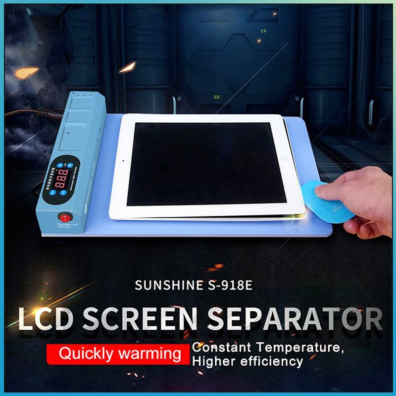 SUNSHINE S-918E LCD Blue Screen Splitter Heating Stage Separator Pad For iPhone iPad LCD Screen Sepa