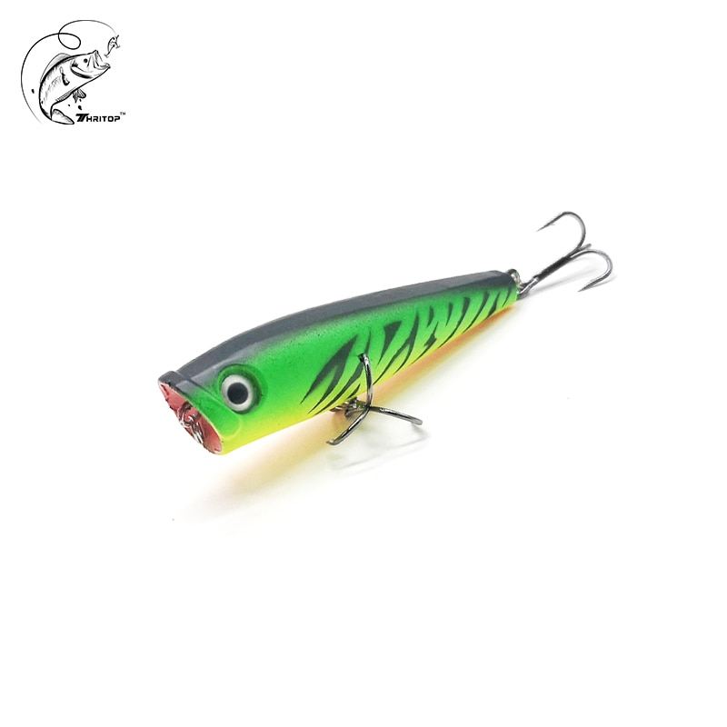 Thritop Pop Lure Hard Bait 7G 65MM 5 Various Colors TP140 Professional Floating Lure Minnow Bass Pike Fishing Bait trulinoya magnet is centrifuged super minnow simuation fish 65mm 5 5g lure water hard bait fishing lure hook fishing