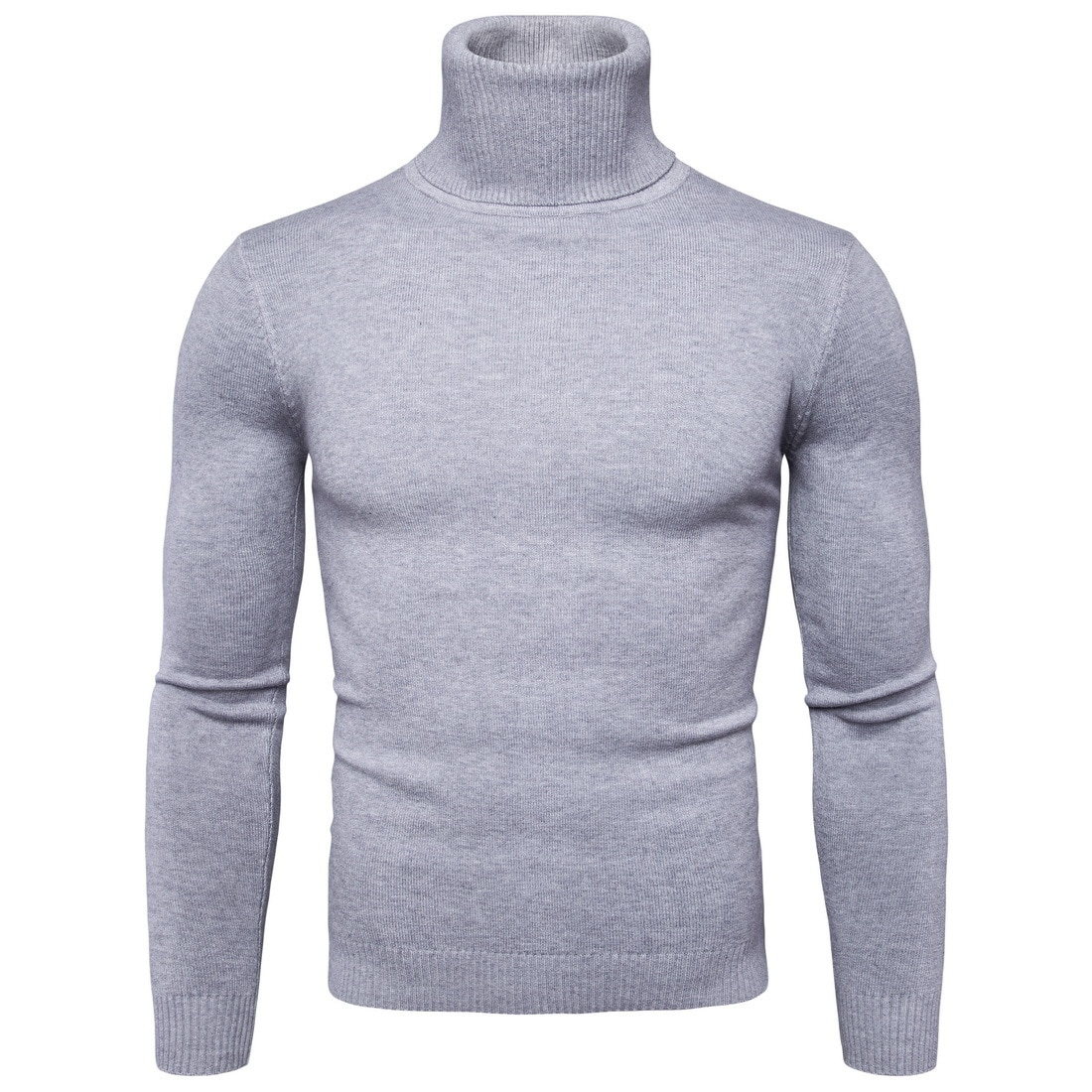 Мужской теплый свитер-водолазка FAVOCENT, модный однотонный вязаный мужской свитер 2020, повседневный мужской облегающий пуловер с двойным ворот...