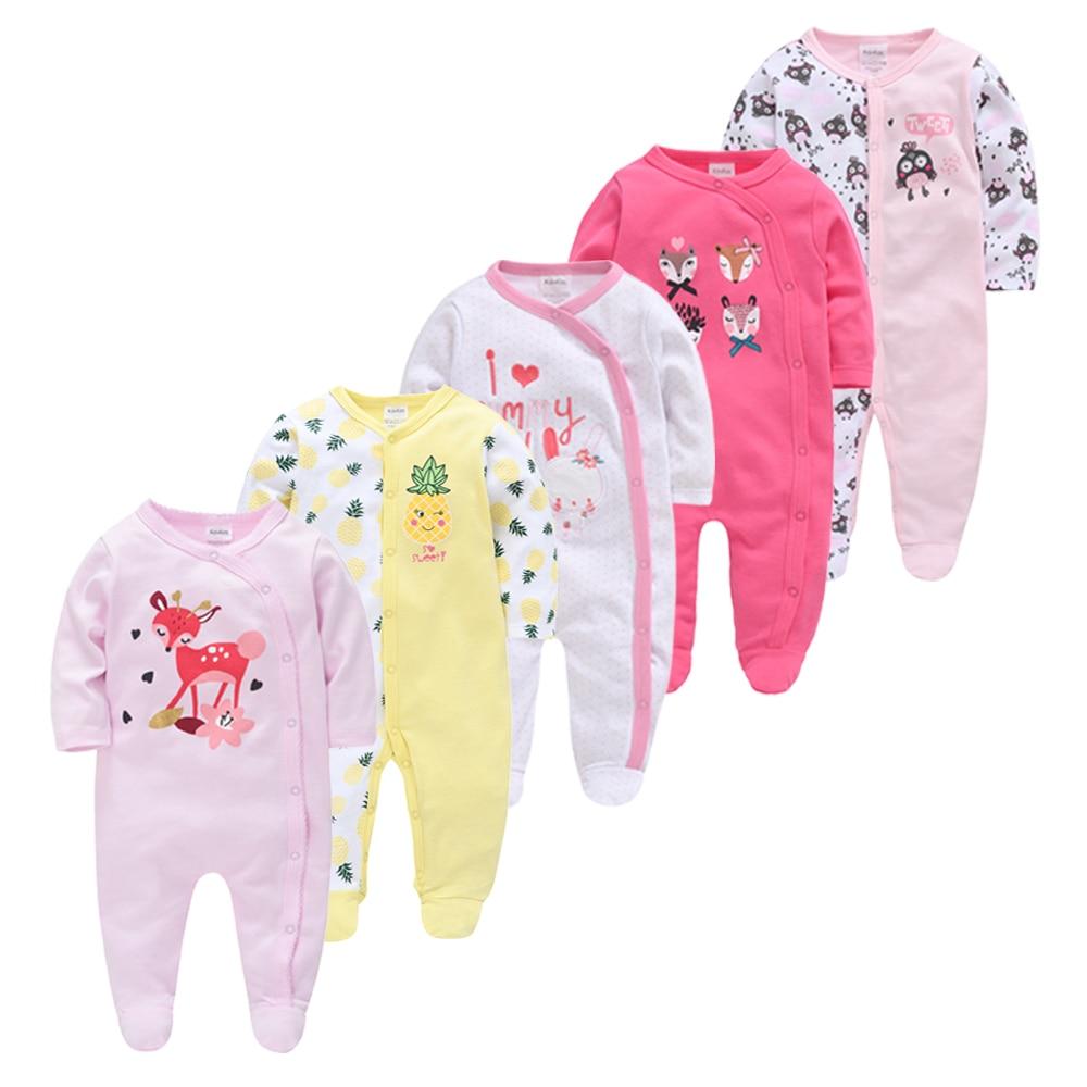 Honeyzone Recém-nascidos Roupas Roupas de Bebê Da Menina do Menino de Algodão de Manga Completo Conjunto 5 Pçs/lote roupa de bebes Infantil Macacão ropa bebes pará