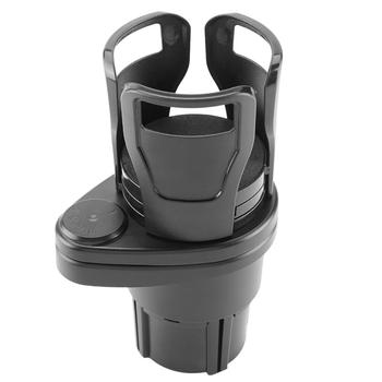 360 Degree Rotating 2 In 1 Cup Holder Vehicle-mounted Slip-proof Water Car Cup Holder Multifunctional Dual  Auto