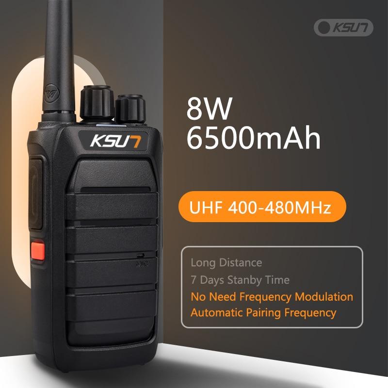 جهاز KSUN قوي لاسلكي تخاطب تلقائيا تطابق تردد CB محطة راديو UHF جهاز الإرسال والاستقبال طويل المدى لاسلكي تخاطب