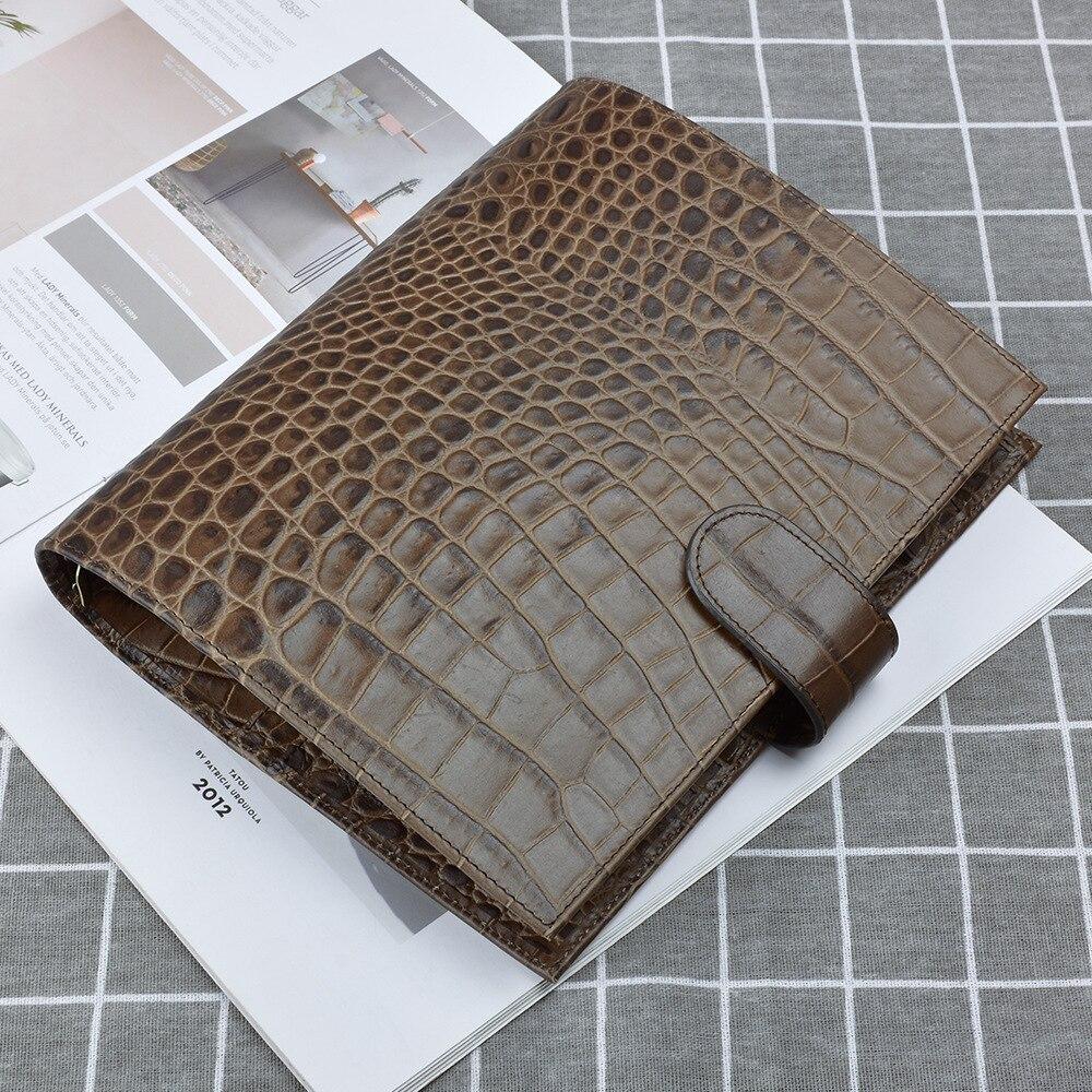 Oryginalne skórzane kółka notatnik A5 rozmiar segregator Agenda organizator notes Sketchbook Planner duża skóra bydlęca papier luźny liść