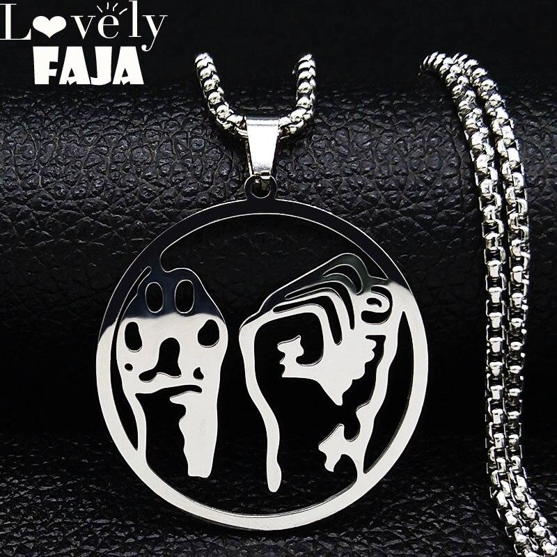 Ожерелье из нержавеющей стали для женщин/мужчин, ювелирное изделие в стиле панк, Vegan Okja, ювелирные изделия, колье homme N1154S03