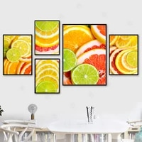 lemon slices juice fruits kitchen decor wall art posters and prints modern home decor picture for living room canvas painting