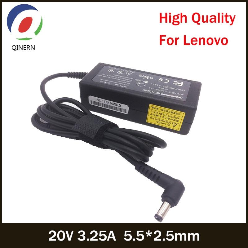 20V 3.25A 65W 5.5*2.5mm Laptop Charger For Lenovo U130 U350 U310 U410 U430 U450 Y430 Y460 Z360 G230